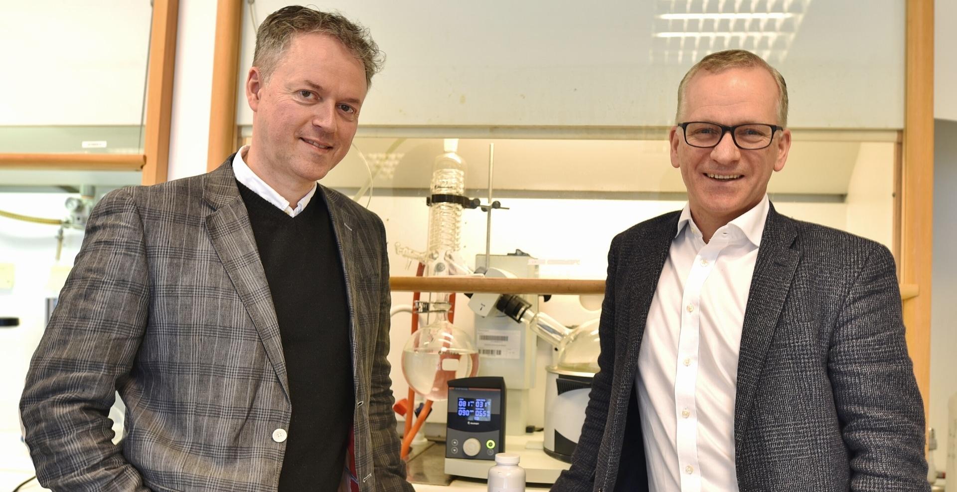 Founder Hogne Hallaråker and CEO Ole Arne Eiksund of Arctic Bioscience